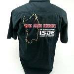 camicia ricamata ISDE
