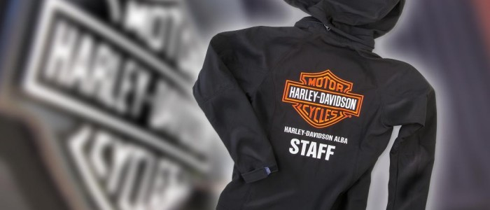 Scavino moto Harley Davidson Alba